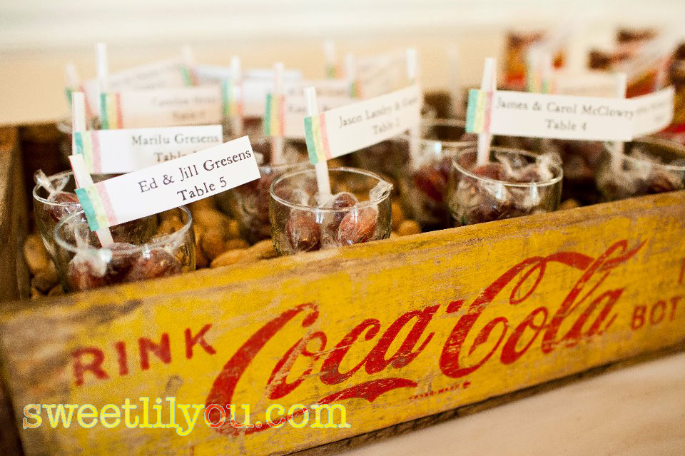 old coke wedding favors seating chart root beer barrels cracker jacks coca cola