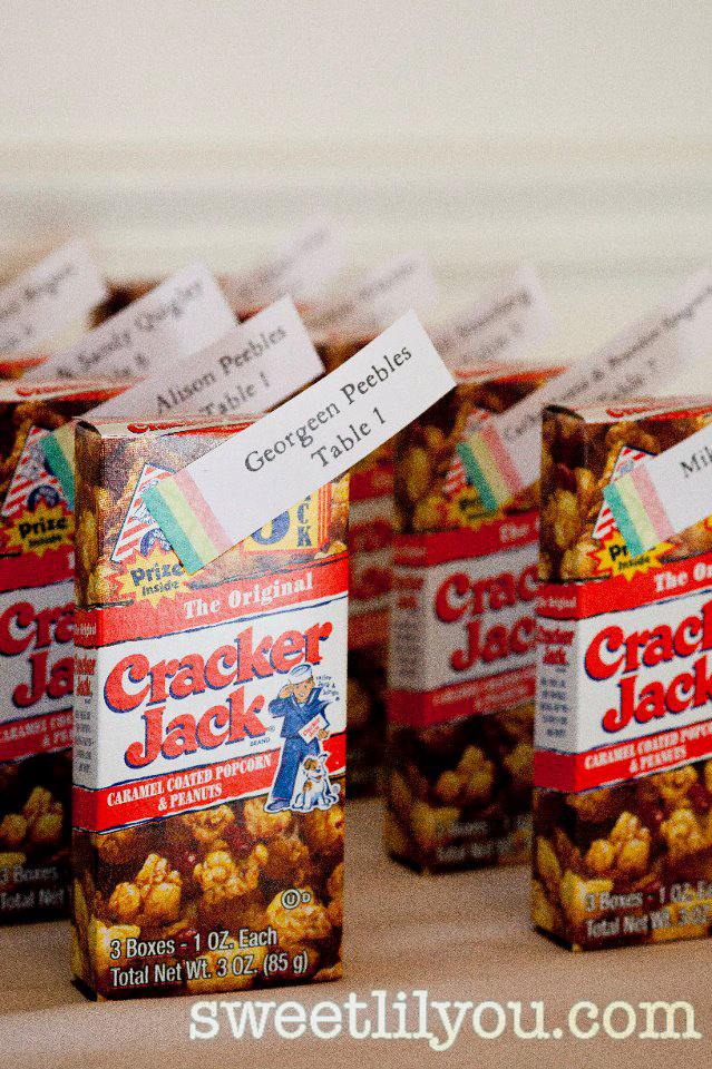 cracker jacks wedding