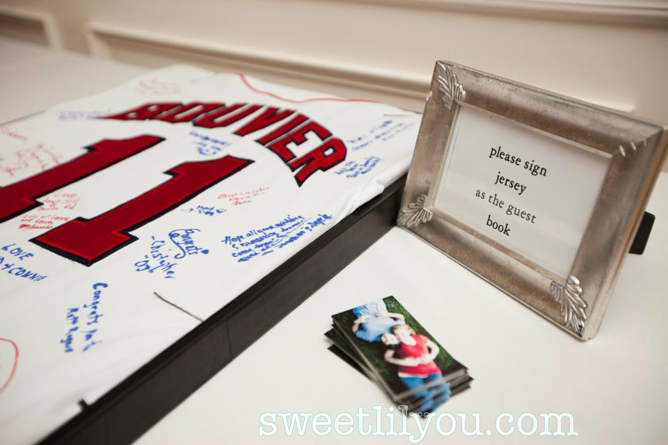 baseball jersey wedding guestbook